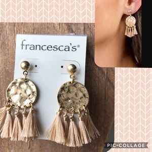 NWT Francesca's Natasha Chandelier Tassel Earrings
